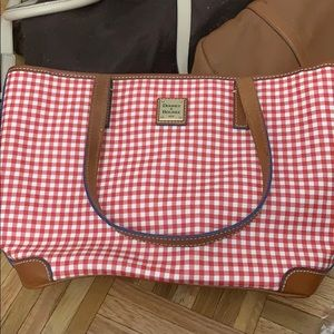 Doobey and Bourke Charleston Gingham purse red nwt